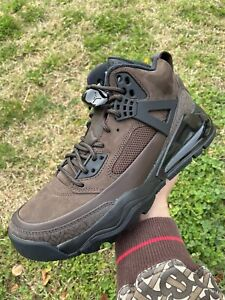 NEW Men's Nike Air Jordan Spizike 270 Black Brown Cinder Boots CT1014-200 Sz 9.5
