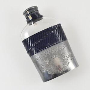 James Dixon & Sons Flask - Silver Plated - Silver Epbm - Flachmann - Hip Flask