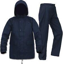 Rain Gear for Men Women Waterproof Fishing Rain Jacket with Waist Pants(Black,