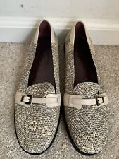 Tod's Women's Python Pattern Buckle Gommino Driving Moccasins 39/9 Made In Italy