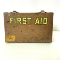 Vintage FIRST AID Davis Emergency Equipment Co Medical Kit Box Only Pat 3/18/24