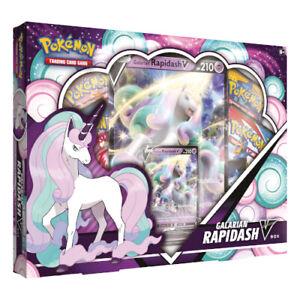 Pokemon - Galarian Rapidash V Box   New & Sealed Booster Packs & Promo
