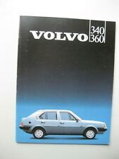 Volvo 340 360 prestige brochure Prospekt Dutch/Flemish text 32 pages 1985