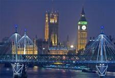 LONDON Big Ben Backdrop Thames River Night View Background 7x5 Studio Photo Prop