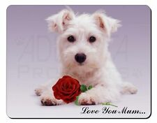 Westie+Rose 'Love You Mum' Computer Mouse Mat Christmas Gift Idea, AD-W7RlymM