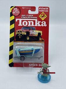 Tonka Maisto 2000 Speed Boat Trailer Green Blue Die Cast Rare HTF New 42/50