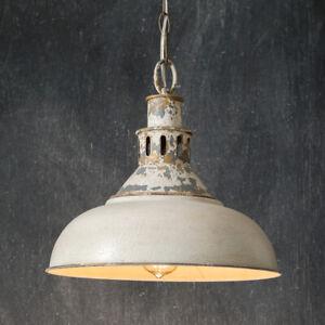 Distressed new White Barn Pendant Light