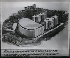 1955 Press Photo New York Artist's sketch of city's $30,000,000 coliseum NYC.