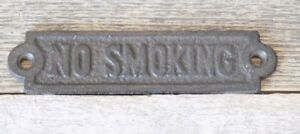 Cast Iron No Smoking Sign Plaque Metal Bathroom Bar Decor Restaurant 5 1/2""