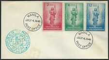 1946 Philippine Fdc - Independence Complete Combo Set Of 3 - Cacheted!