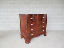 Antique Serpentined Front Mahogany 4 Drawer Chest