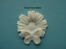 Decorative shabby chic butterfly on flower resin onlay furniture moulding O24A