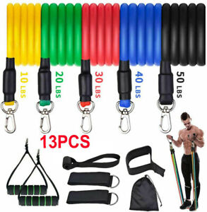 Resistance Bands Set Exercise Bands Pull Rope Home Gym Equipment Yoga Fitness EO