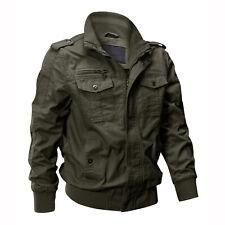 Men's Bomber Jacket Military Tactical Army Field Combat Cotton Coat Pilot Jacket