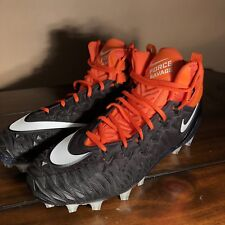 Nike Force Savage Pro Men's Football Cleats Size 12.5 918346-019 Orange / Black