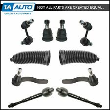 Front Ball Joint Tie Rod Sway Bar Link Boot Bellow Steering Suspension Kit 10pc