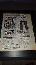 Travelling Wilburys/Peter Cetera Rare Original Radio Promo Poster Ad Framed!