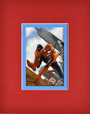 SPIDER-MAN w CAMERA, OFF TO WORK PRINT PROFESSIONALLY MATTED