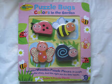 Lot of 2~Puzzle Bug & Elmo's Busy Baby Board Book w/wooden pieces & Rattle~LBDWA