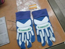 NOS Kawasaki OEM MX Motocross Blue & White Youth Racing Gloves Large K86501-173A