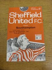 30/12/1967 Sheffield United v Southampton  (results filled in). Thanks for viewi