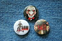 """SAW Horror Movie Buttons Pins Badge 1"""" pinback Billy the Puppet Doll on trike"""