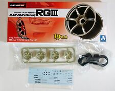 "Aoshima 1/24 Advan Racing RGIII 19"" Wheel & Tire Set Plastic Model 0902 (147)"