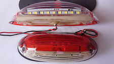 2x 18 LED Red/White Position Light Lamp 12V-24V Side Marker Truck Trailer Lorry