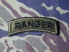 Old obsolete Authentic Vietnam era subdued combat RANGER Tab black & OD Airborne