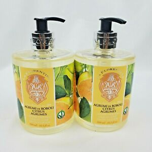2X La Florentina Citrus Moisturizing Hand Soap from Italy 16.5oz Each