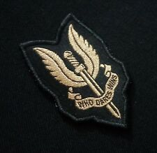 SAS Who Dares Wins Jump Para Airborne Wings Woven Patch