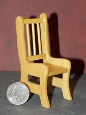 Dollhouse Miniature Kitchen Side Chair Oak 1:12 inch scale P63 Dollys Gallery