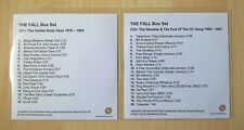 THE FALL - THE FALL BOX SET 1976-2007 - 2 x CD TEST DISCS (VERY RARE. MINT cond.