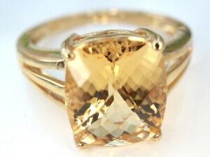 GOLDJUNGE69* HARRY IVENS IV EDELSTEIN RING(19) GOLDBERYLL 11x9mm *375er GELBGOLD