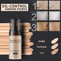 Liquid Foundation Face Color Waterproof Concealer Coverage Makeup Base Beauty