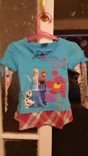 Girls Frozen Elsa Cotton Long Sleeved T-shirt for 18-24 months and 2-3 years