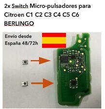 2x SWITCH MICRO PULSADOR CITROEN C1 C2 C3 C4 C5 C6 BERLINGO PARA MANDO PLEGABLE