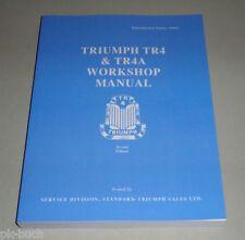 Werkstatthandbuch / Workshop Manual Triumph TR 4 / 4A ab 1961