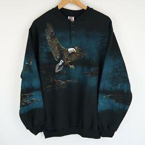 Vintage 90's All Over Print Wildlife Sweatshirt SZ XL (E9672)