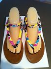 Ladies KUSTOM 80's Style Sandals AUS Size 9 EU 40 Strappy Flat Bright Colours