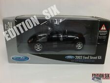 Welly 1:24 2003 FORD STREET KA Black Cabriolet Roadster New