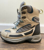 LL Bean PrimaLoft Leather Winter Hiking Boots Tan gray Size 6M US Women's