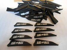 "36- AAE PRO Max Hunter 1.7"" BLACK Vanes! arizona archery arrow fletching"