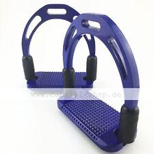 Caballi Curve Pro Blau Hybrid Aluminium Sicherheitssteigbügel mit Gelenk