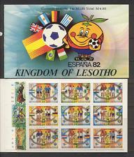 Lesotho 1982 Espana/WORLD CUP FOOTBALL bklt (a3)