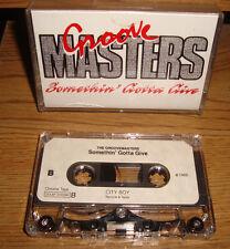 GROOVE MASTERS + SOMETHIN' GOTTA GIVE + DEMO 1989 ROCK FUNK VERY RARE CASSETTE