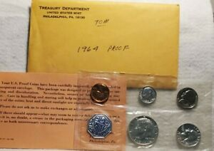 1964-P US Mint Silver Proof Five (5) Coin Set JFK Uncirculated COA 90% Rare
