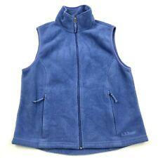 LL Bean Vest Sweater Jacket Women's Size Small s Blue Full Zip Sleeveless Fleece