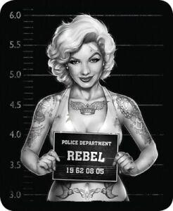 "Marilyn Monroe - Rebel Mugshot - Officially Licensed Queen Size (79"" x 96"")"