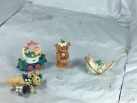 Vintage Hallmark Merry Miniatures Figurines Lot of halloween & easter 1998 1999